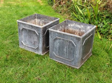 Planters Company by Pair Of Square Lead Planters In From The Vintage Garden