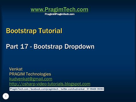 Tutorial Bootstrap Dropdown | sql server net and c video tutorial bootstrap dropdown