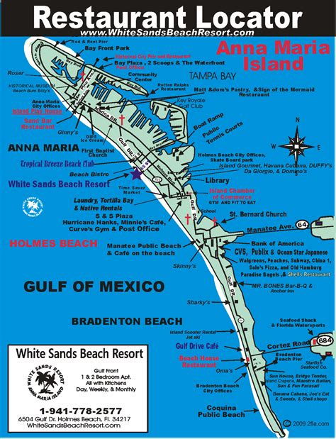 island florida restaurant map