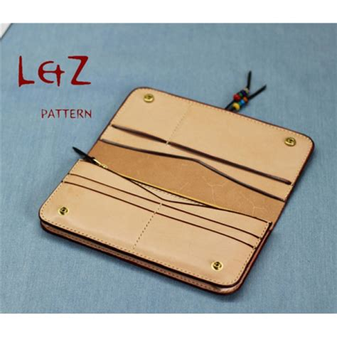 leather tooling wallet pattern long wallet patterns pdf ccd 29 lzpattern design hand