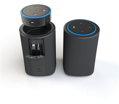 amazon com vaux cordless home speaker portable battery for pimp your echo dot with the help of the battery powered
