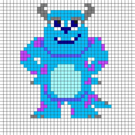 design art inc sulley monsters inc perler bead pattern pinteres