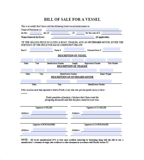 boat and trailer bill of sale exle boat trailer bill of sale form florida archives