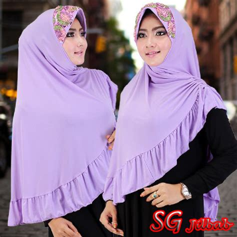 Jilbab Kerudung Gracella Gracela Renda Bunga jilbab bergo bunga squin sentral grosir jilbab kerudung i supplier jilbab i retail grosir