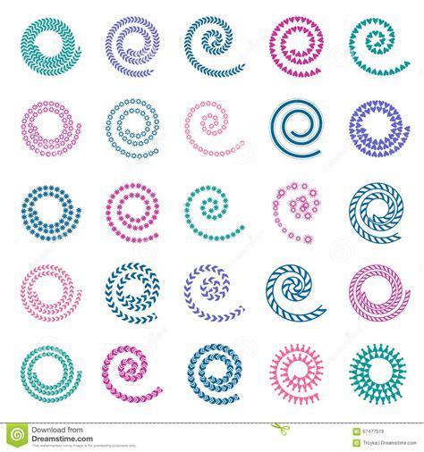 design elements set design elements with spiral movement cartoon vector