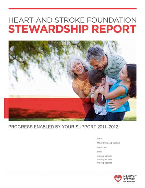 stewardship report template and stroke foundation stewardship report by visual