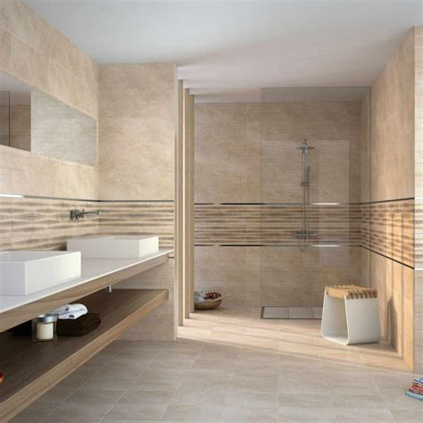 Mosaic Bathrooms Ideas by Athena Beige Beige Porcelain Bathroom Tiles Wall Tiles