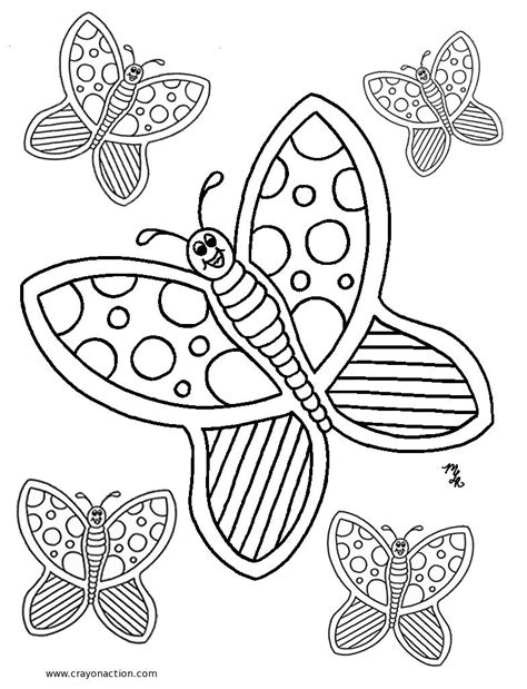 butterfly coloring pages crayon action coloring pages