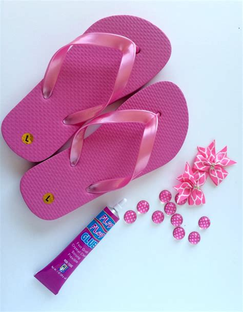 easy flip flop creations polka dots  ribbons living