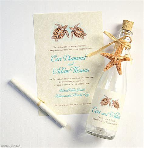 Wedding Invitations Sea Theme sea turtle wedding invitations mospens studio