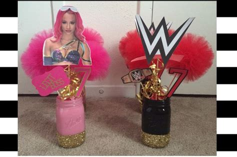 sasha bankswwe centerpieces sasha banks party girls wwe party mileys party pinterest