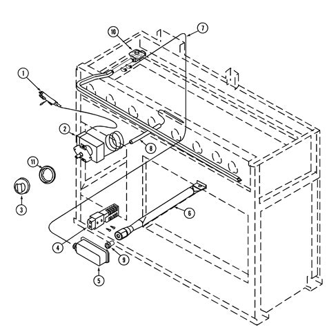 jenn air oven parts diagram 12 quot oven controls diagram parts list for model prg4802p
