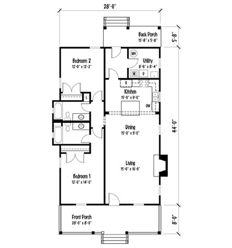shotgun house plan house plans by john tee holly grove