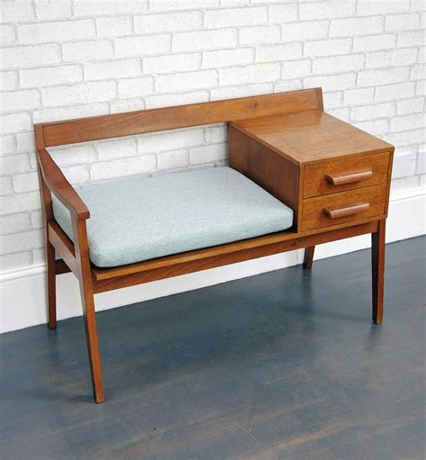 telephone bench seat mid century telephone table bring it on home