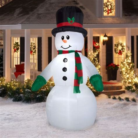 large blow up christmas decorations walmart inflatables outdoor decorations snowman airblown reindeer