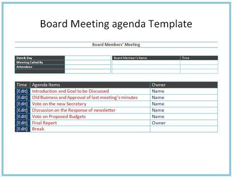 Board Meeting Agenda Template Easy Agendas Board Meeting Agenda Template