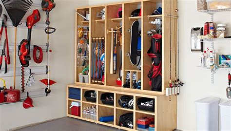 diy garage organization systems diy family storage center build this modular wood locker