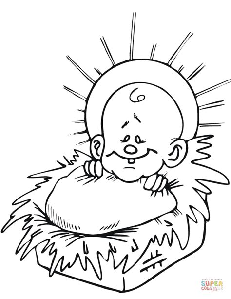 coloring page jesus in a manger jesus in a manger coloring pages jesus christmas