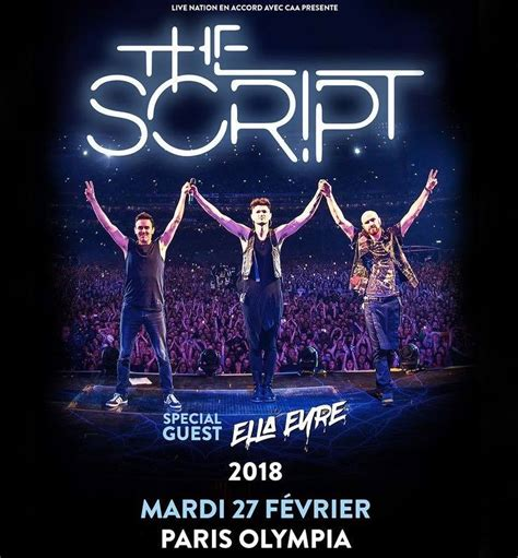 the script y the script 224 l olympia nous y 233 tions just music