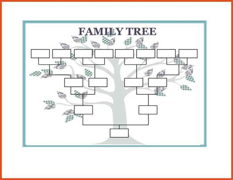 family tree template word moa format