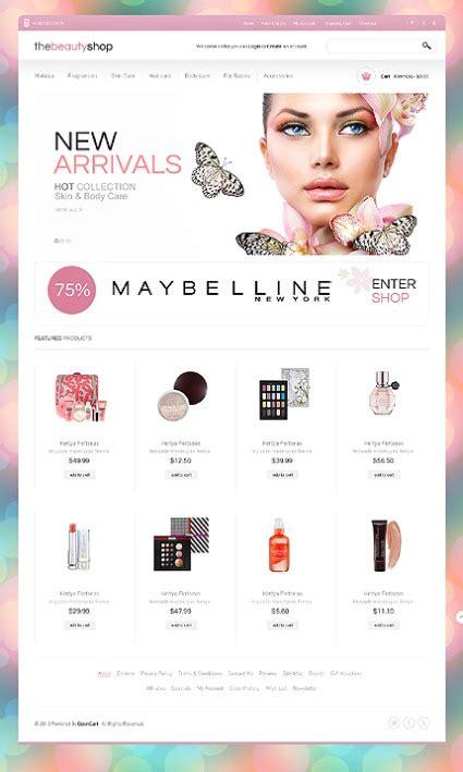 Top 50 Best Ecommerce Templates By Templatemonster Makeup Website Templates