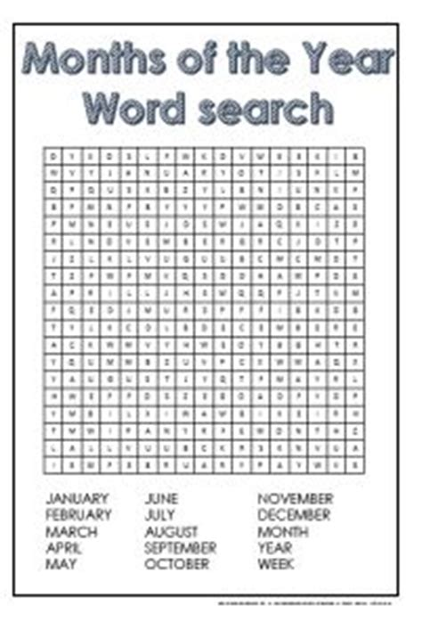 printable word search months of the year words free printables and the o jays on pinterest