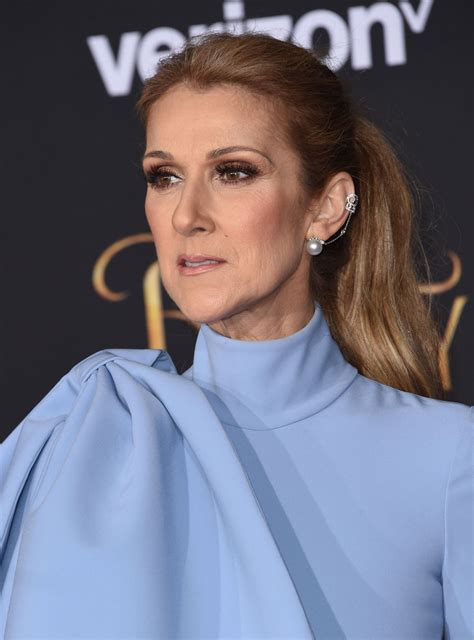 selin dion celine dion at beauty and the beast premiere in los