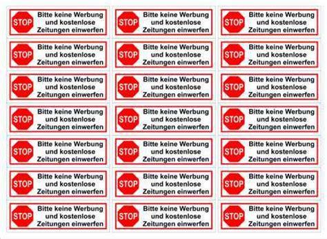 Aufkleber Stop Bitte Keine Werbung Und Kostenlose Zeitungen Einwerfen by Neues Urteil Zu Bitte Keine Werbung Aufkleber