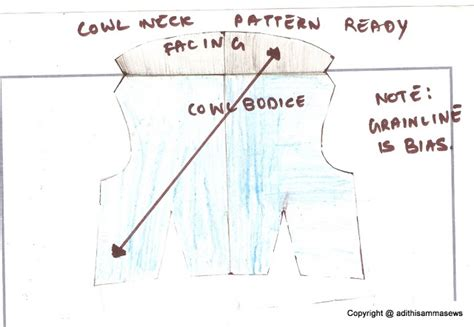 pattern drafting tutorial adithis amma sews cute confessions of a sew addict cowl