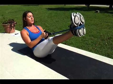 fierce minute resistance bands abs youtube
