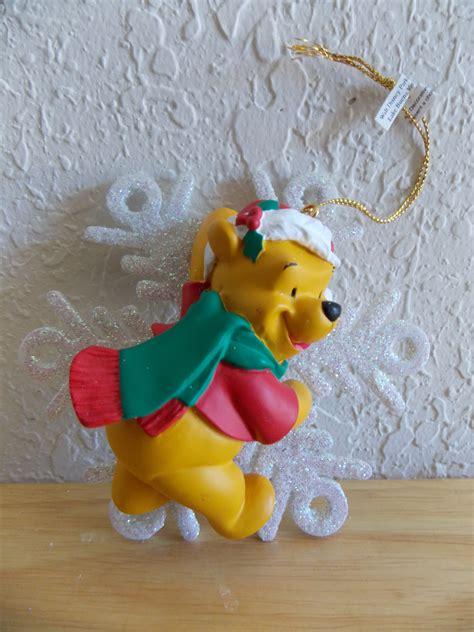 disney winnie the pooh on snowflake christmas ornament