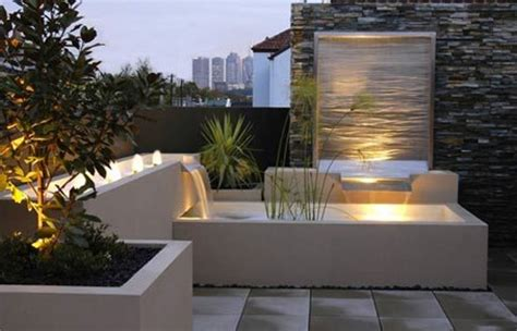 modern water features outdoor decor landscaping rumah minimalis