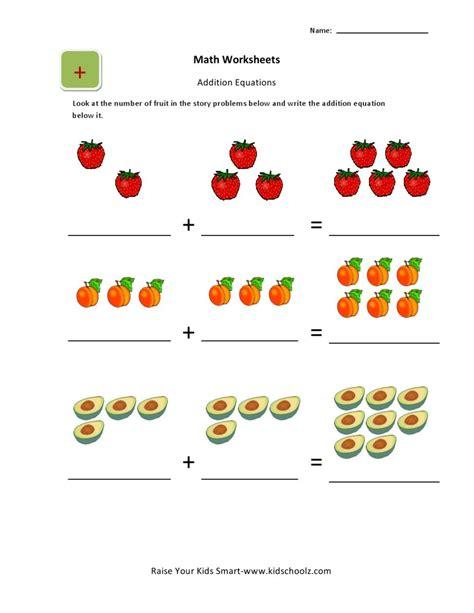 Fantastic Addition For Kindergarten Worksheet Ldelisto