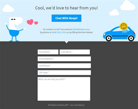 design email form 100 contact form pages for design inspiration