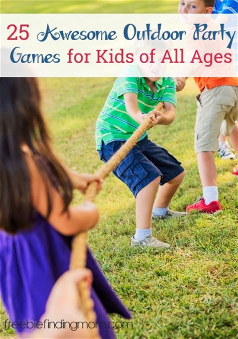 backyard party games 25 awesome outdoor party games for kids