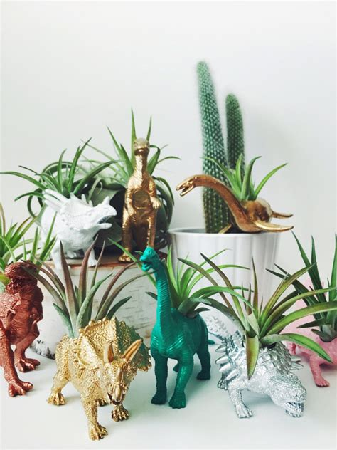customize your own desk customize your own small dinosaur planter with air plant