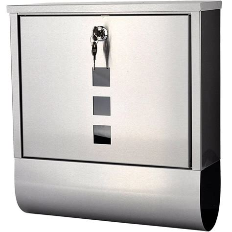 Weatherproof Letter Boxes Stainless Steel Lockable Mailbox Newspaper Holder Outdoor Mail Post Letter Box Ebay