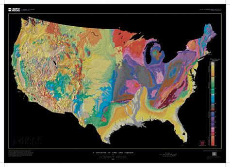 geologic map of united states thematic data resources