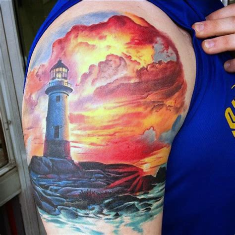 90 sunset tattoos for men fading daylight sky designs