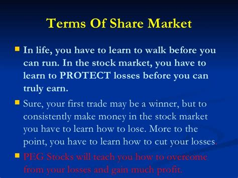 Mba To Learn Stocks by Peg Stocks Mba Becdoms