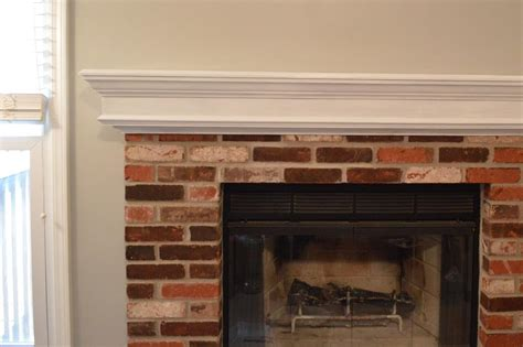 brick fireplace white mantle fireplace designs