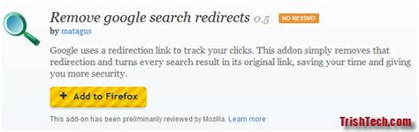 google images redirect notice remove google search redirects in firefox