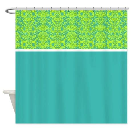 teal and green shower curtain teal and green damask shower curtain by alondrascreations