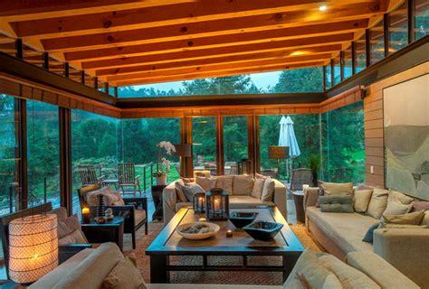 san sen house made of wood and glass interiorzine