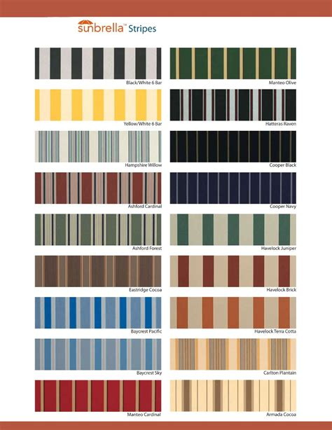 sunbrella awning colors sunbrella stripes awnings of hollywood