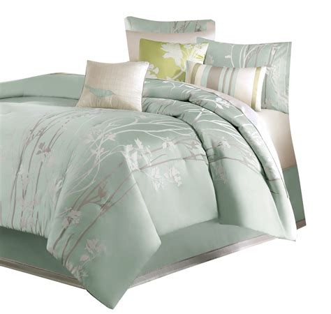 seafoam bedding madison park athena 7 piece floral print comforter set