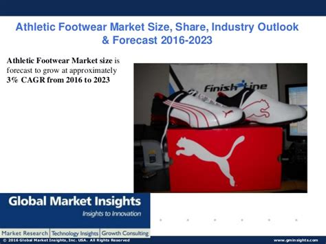athletic shoe industry athletic footwear market size ppt