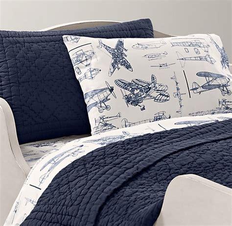 vintage airplane bedding vintage airplane blueprint toddler bedding collection