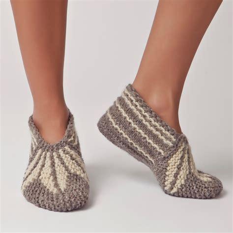 Handmade Slippers Patterns - wool slippers handknit wool socks warm soft knitted socks