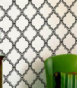 Wall stencil moroccan allower pattern by omg stencils mediterranean